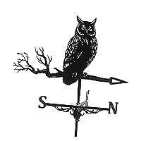 風見鶏鉄黒フクロウ形風見鶏風向表示測定ツール屋外シーン装飾装飾風見鶏