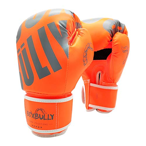 Boxhandschuhe Frauen Taekwondo Handschuhe Kinder Präzise Boxen Peak Position Fisting Mehr Power (Color : Orange, Size : 12oz)