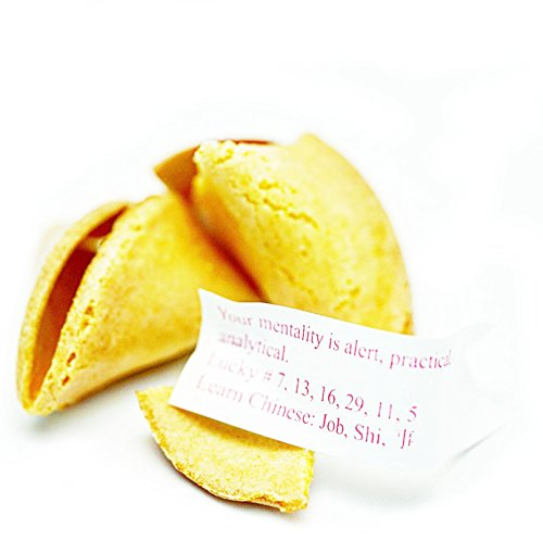 120pcs win Far Chinese/Japanese Fortune Cookies Fresh Single Wrap Vanilla Flavor