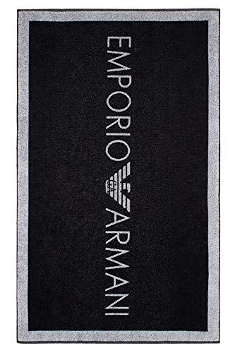 Emporio Armani Swimwear Womens Towel Logo Addicted, Black, UNI