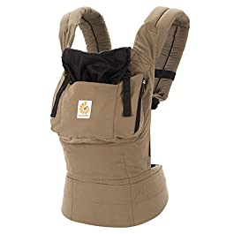 Ergobaby Carrier, Original 3-Position Baby Carrier with Lumbar Support and Storage Pocket