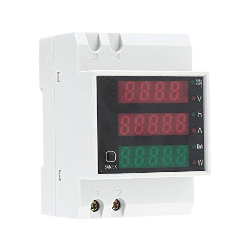 KKmoon AC80-300V 100A Poder Factor Metro Amperímetro Voltímetro Multi-Funcional...