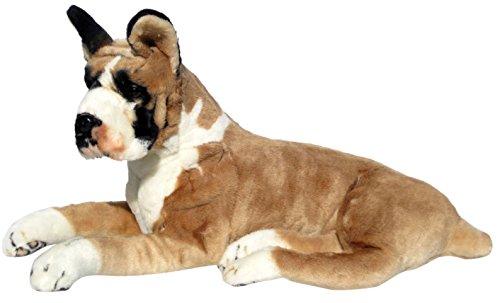 Wagner Plüschtier Hund Boxer - liegend - 72 cm Kuschelhund Stofftier