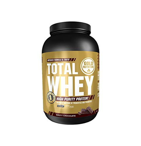 Goldnutrition Total Whey Proteina 1kg, Chocolate, Aumenta y Conserva Músculos