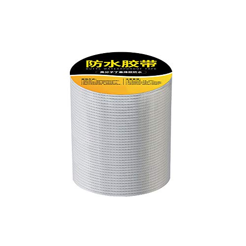 Roofing Tape Seal Butyl Rubber Roof Flashing Tape Aluminium Foil Tape Waterproof Patch Butyl Tape High And Low Temperature Resistance For Roof Boat Repair Sealant Caulking Strong Adhesive