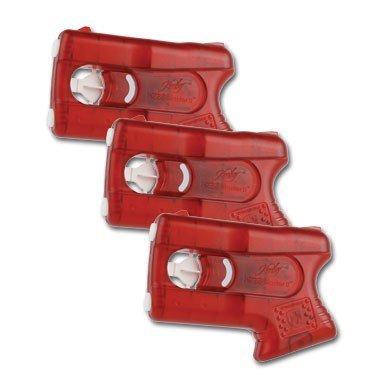 kimber Self Defense Less-Lethal PepperBlaster II; Pepper Spray Gun (Set 3,Red)