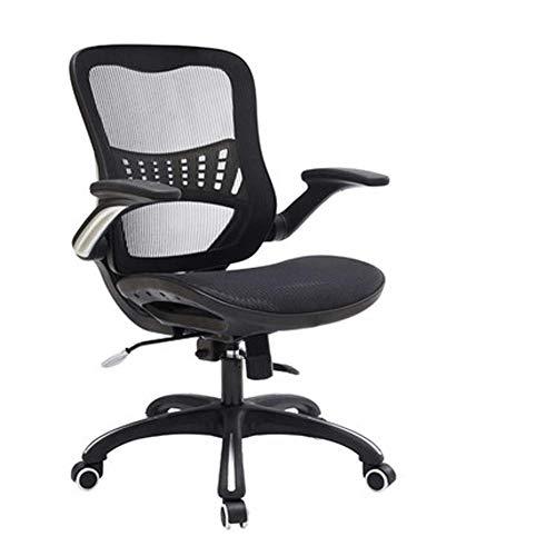 Silla de Oficina ejecutiva de Malla ergonomica con Respaldo Alto, Asiento Ajustable en Altura, Mecanismo de inclinacion sincrono, rotacion de 360 Grados, Negro-Black