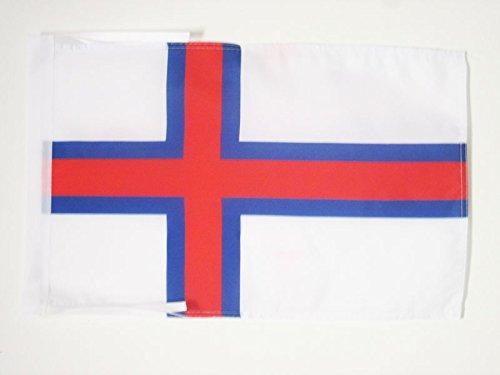 AZ FLAG Flagge FÄRÖER-Inseln 45x30cm mit Kordel - FÄRÖER Fahne 30 x 45 cm - flaggen Top Qualität