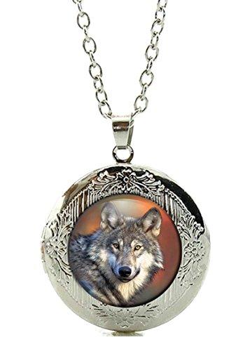 Merchandise for Fans Foto-Medaillon/Amulett für eigenes Foto mit Cabochon 20mm - Motiv: Wolf Grauwolf Europäischer Wolf Porträt (17)