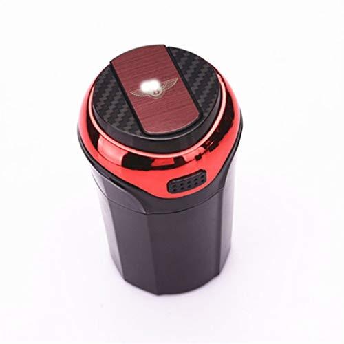 123564 Auto-Aschenbecher, Automatisches Feuerzeug, Blaue LED-Anzeige Mit Abdeckung Und Abnehmbares Feuerzeug USB-Lade Kompatibel Mit Bentley (Color : A)