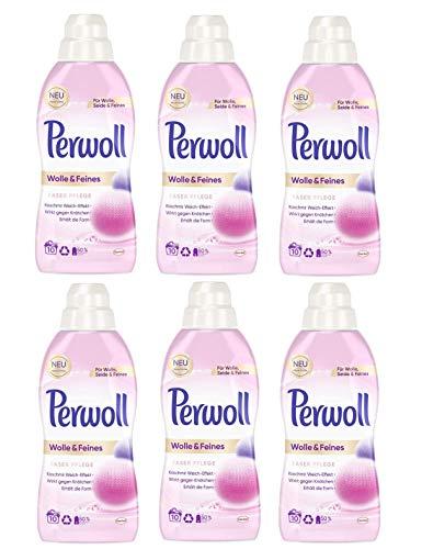 Perwoll Wolle & Feines Faser Pflege, Feinwaschmittel, für Wolle, Seide und Feines (60 (6 x 10) Waschladungen)