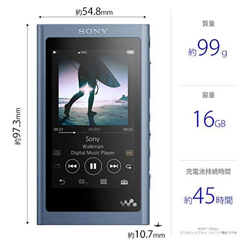 ソニーウォークマンAシリーズ16GBNW-A55:MP3プレーヤーBluetoothmicroSD対応ハイレゾ対応最大45時間連続再生2018年モデルムーンリットブルーNW-A55L