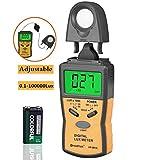 HOLDPEAK 881A Medidor Digital de Luz, Lux de Fotómetros,Luxómetro Portátil con Retención de...
