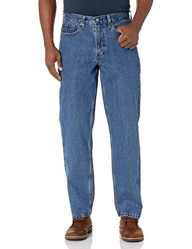 Levi's Men's 550 Relaxed Fit Jeans, Medium Stonewash, 36W x 32L
