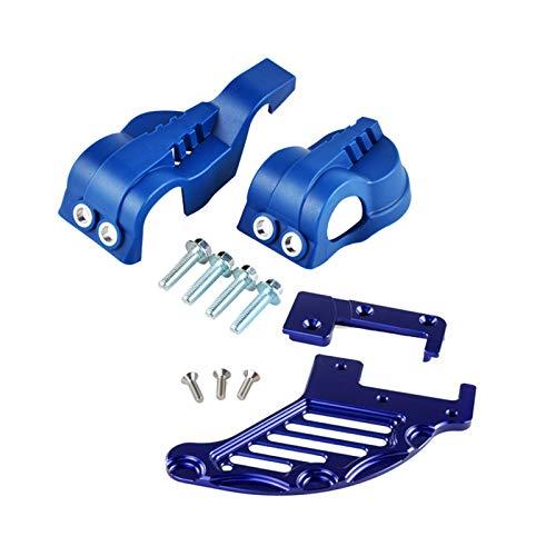 YYOMXXOM WP Fork Shoe Shoe Guard Protector de Disco de Freno Trasero Ajuste para Husqvarna 125 250 350 449 450 480 501 FE TE FC TC TX FS FX 2016 2017 (Color : Blue)