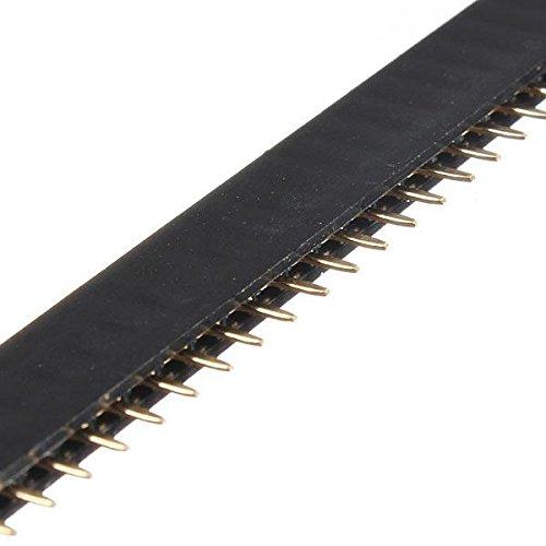 Módulo electrónico 40p 40 pin 2.54mm cabecera hembra cabecera conectores conectores para DIY 1pc Equipo electrónico de alta precisión