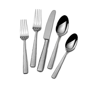 Mikasa 5204881 Oliver 65-Piece 18/10 Stainless Steel Flatware Set with Serveware, Service for 12