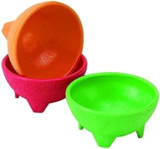 IMUSA USA MEXI-2001 Plastic Salsa Dishes 3-Piece, Red, Orange, Green