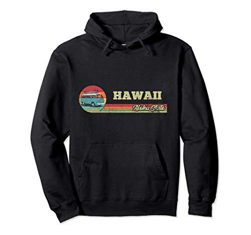 Hawaii Aloha State - Retro Surf Van Vintage Hawaiano Sudadera con Capucha