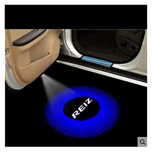 NOTRUY Luz de Bienvenida a la Puerta 2X LED Puerta de Coche Bienvenido Luz Fantasma Logo Light Shadow proyector Compatible con Toyota Mark X Reiz 2006-2017 Car-Estilo Luz de Bienvenida