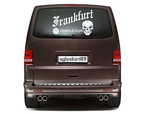 uglyshirt89 Frankfurt Autoaufkleber 45 cm | Hardcore | Sticker | Aufkleber | KSM1