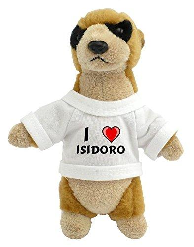 Suricata personalizada de peluche (juguete) con Amo Isidoro