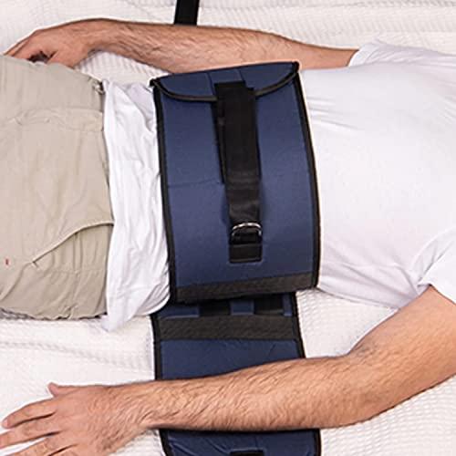 OrtoPrime Cinturón Sujeción cama de 90 y 105 cm - Cinturón cama Ancianos Anticaídas - Arnés Personas mayores Ortopédico - Cinturón de Seguridad para ancianos y adultos