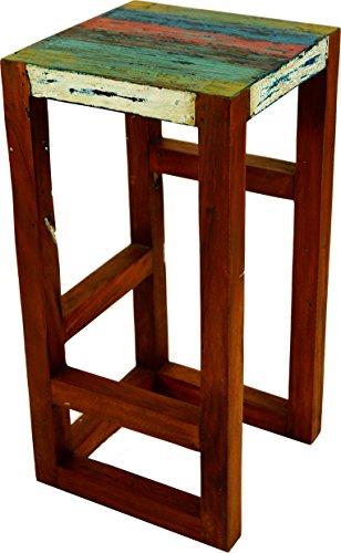 Guru-Shop Bijzettafel, Krukje - Model 5, Bruin, 60x30x30 cm, Zitmeubilair