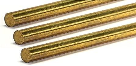 RMP Brass Round Bar, Lathe Bar Stock, 12 Inch Length, 5/16 Inch Diameter, 3 Pack