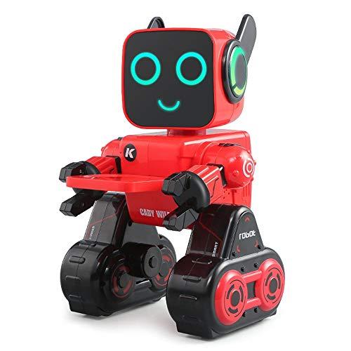 DBXMFZW RC Robot Puzzle Gestión financiera RC Robot Voice Interactive Touch Control RC Robot Juguetes interactivos para Regalos de educación de la Primera Infancia para niños de 3 a 6 años