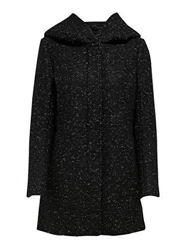 Only Onlnewsedona Wool Coat CC Otw Abrigo de Mezcla de Lana, Negro, XL para...