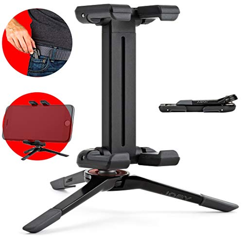 JOBY JB01492-0WW GripTight ONE Micro Standfuß faltbarer Universal-Handy-Halter (extrem kompakter, geeignet für Smartphones/iPhone) schwarz