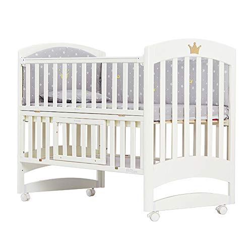 Amazing Deal Dzhyy Crib Multi-Function Newborn Bed Game Bed Stitching Children's Bed,Package 2,12571...
