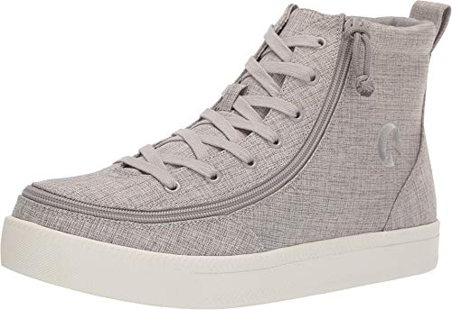 BILLY Footwear Classic Lace High Chambray Grey Jersey 10