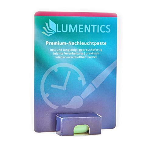 lumentics Premium Leuchtpaste - Im Dunkeln phosphoreszierende Uhrenfarbe. Leuchtende Zeigerfarbe. Selbstleuchtende UV-Bastelfarbe, Glow (Grün/Grün)
