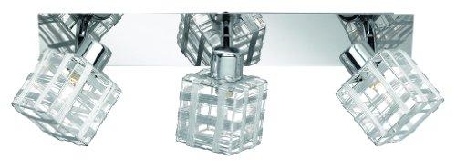 Reality Leuchten Deckenleuchte Jail, Metall, Chrom, Schirm Drahtgeflecht, R81353106