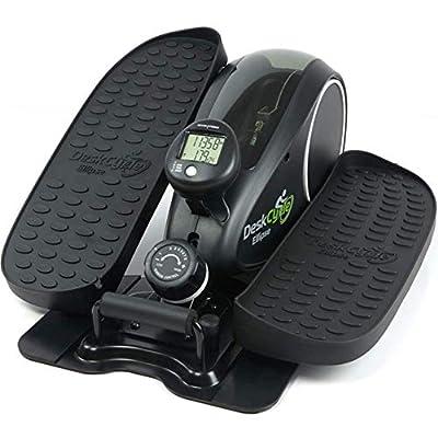 DeskCycle Ellipse Under Desk Elliptical Machine, Desk Cycle Pedal Exerciser, Peddler Exercise Equipment for Office or Home Workout, Black