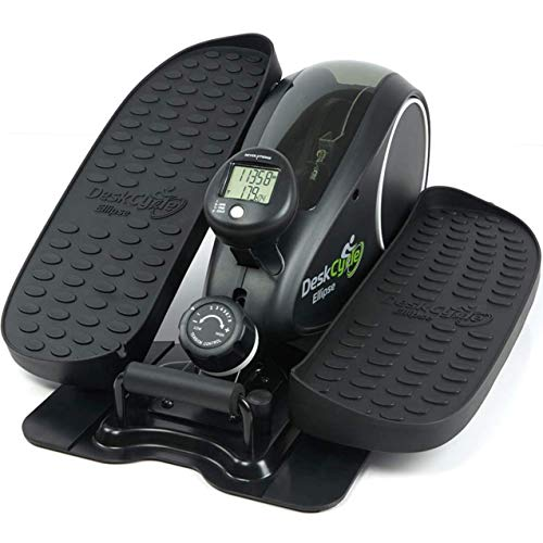 DeskCycle Ellipse: Under Desk Elliptical Machine - Mini Seated Exercise Equipment - Easy Setup, Compact, Adjustable Resistance