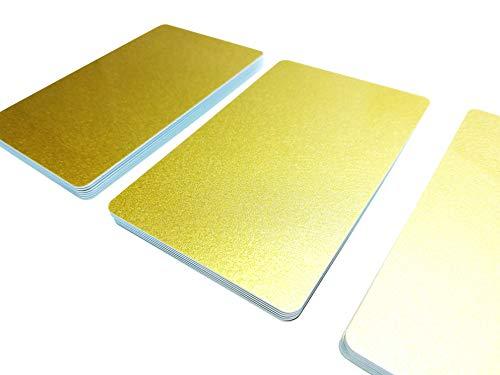 100 Premium Plastikkarten/PVC Karten Gold, Varianten von 5-500 Stück, Rohlinge, blanko, Kartendrucker, NEU! (100)