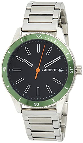 Lacoste Reloj Análogo clásico para Hombre de Cuarzo con Correa en Acero Inoxidable 2011009
