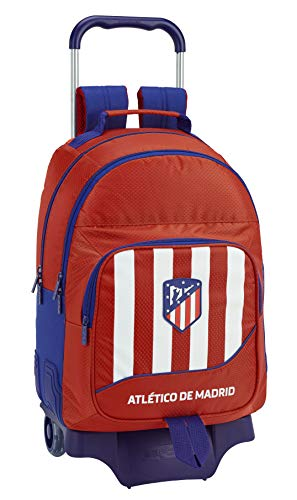 Atlético de Madrid Mochila Doble con Ruedas, Carro, Trolley.