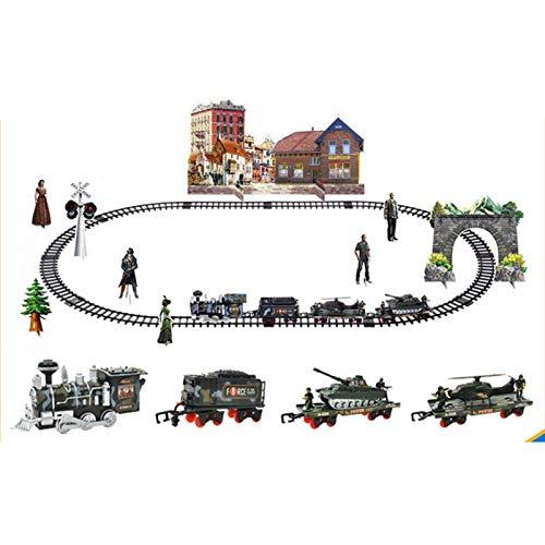 AIHOME Juego de iniciación de tren eléctrico, tren, locomotora de vapor, muchos...