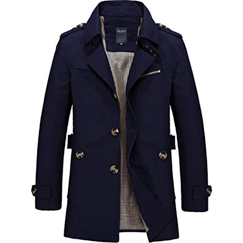Kus me Mens Trench Coat, Korte Single Breasted Lichtgewicht Jas Militaire Jassen Windbreaker Wind Outdoor Jacket