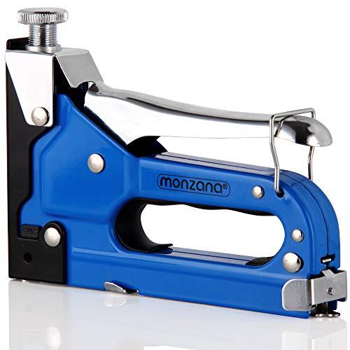 Monzana 3in1 Handnietmachine, 1500 stuks. Nieten set voor 4-14 mm nietjes en spijkers nietmachine nietmachine nietmachine hout