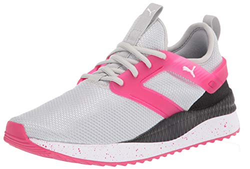 Alexander McQueen by PUMA Black Label Womens Cross Trainer Sneaker, High Rise-Bright Rose-puma White, 9 US