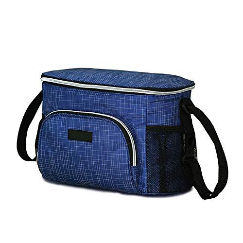 Bolso de Momia Multifuncional, Bolso de Cochecito de Aislamiento acumulable y de Aislamiento térmico de Revestimiento de Gran Capacidad para Cochecito, Bolsa de Cochecito (Color : Blue)