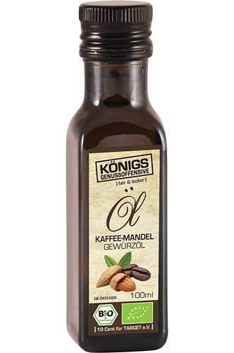 Kaffee Mandel Gewürzöl, BIO Öl, kaltgepresst, GO!, alle Zutaten mit Bio-Zertifizierung, 100ml - Bremer Gewürzhandel