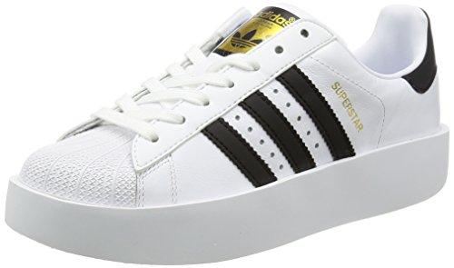 adidas Superstar Bold W, Zapatillas Mujer, Blanco (Footwear White/Core Black/Gold Metallic 0), 38 2/3 EU
