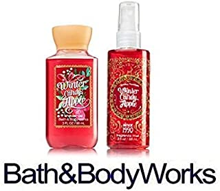 Bath & Body Works - Mini Shower Gel & Fragrance Mist WINTER CANDY APPLE