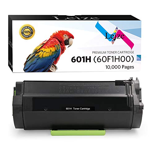 Leize Remanufactured Lexmark 601H 601 60F1000 60F1H00 Toner Cartridge High Yield 10,000 Pages use for Lexmark MX310 MX410 MX510 MX511 MX610 MX611 Printer, 1-Pack Black